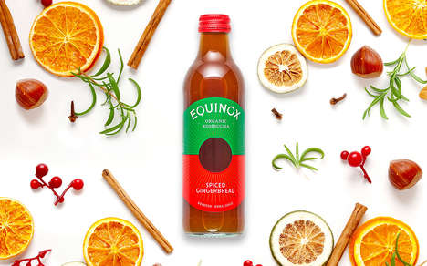 Festively Spiced Kombucha Beverages