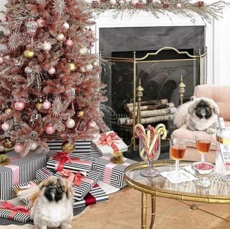 Rosé-Hued Christmas Trees