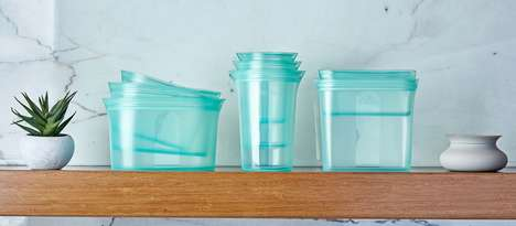 Zippered Silicone Containers