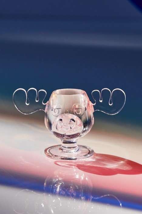 Moose-Themed Shot Glasses