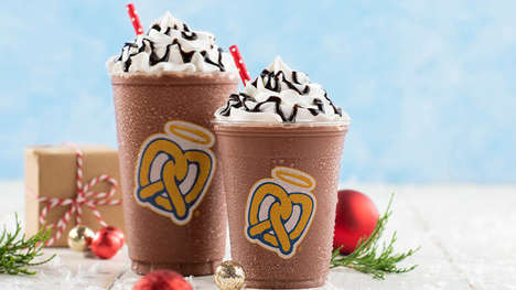 Frozen Holiday Hot Chocolates