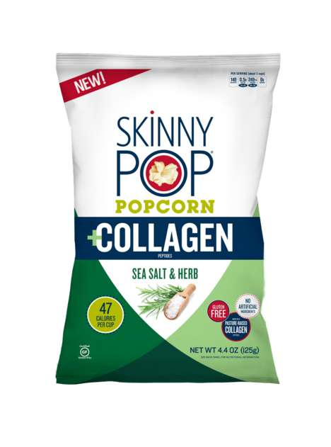 Collagen-Infused Popcorn Snacks