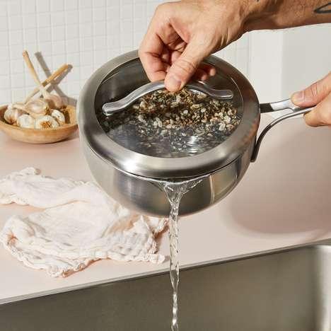 Built-In Colander Cookware