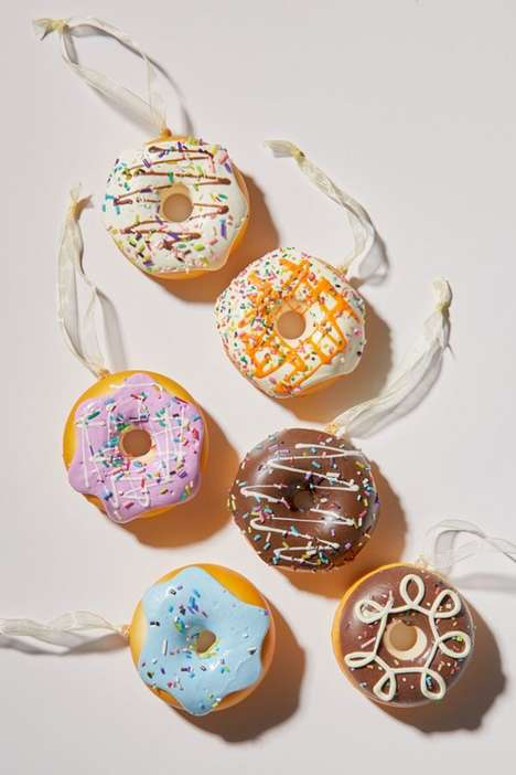 Donut-Themed Christmas Ornaments
