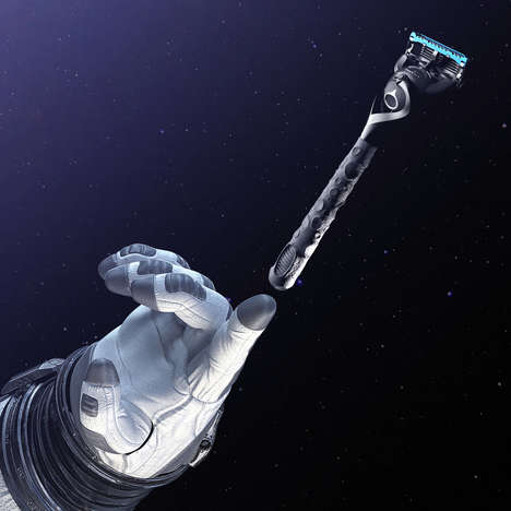 Lunar Surface-Inspired Razors