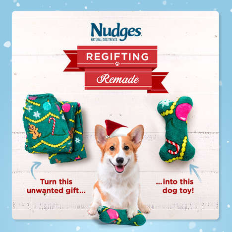 Festively Upcycled Dog Toys