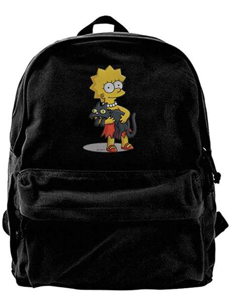 Cartoon-Themed Canvas Backpacks