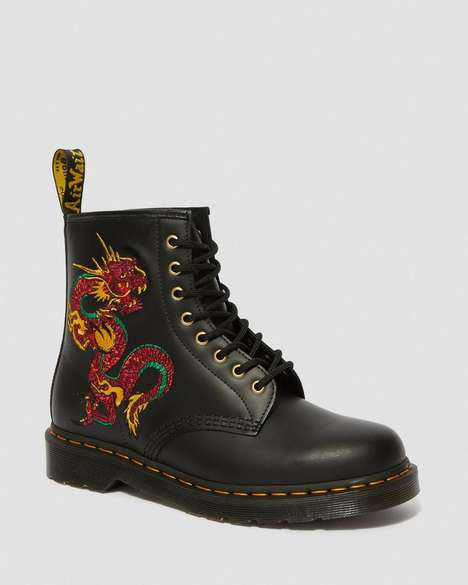 Whimscal Dragon Graphic Boots