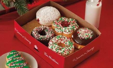 Christmasy Chromatic Donut Menus