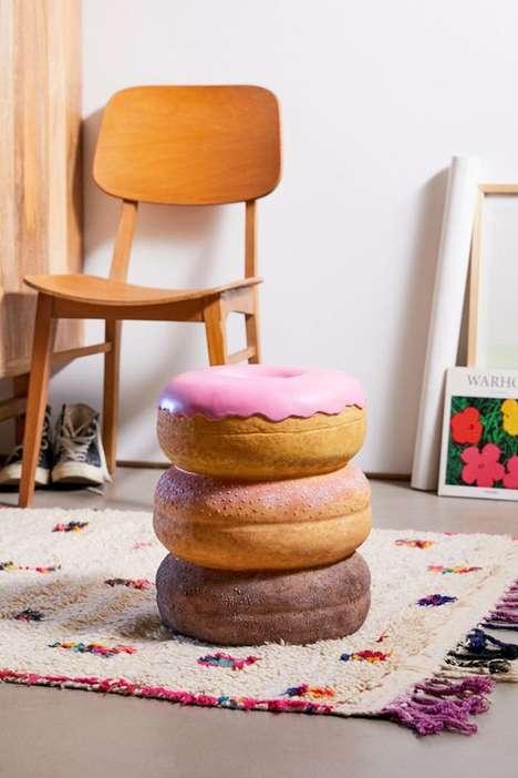 Dynamic Donut-Shaped Foot Stools