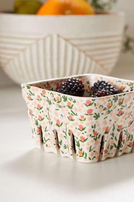 Dainty Ceramic Berry Strainers