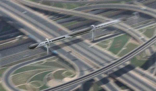 Futuristic Elevated Train Lines