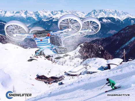 Wintery Condition Passenger Drones