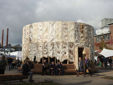 Air-Purifying Mushroom Pavilions