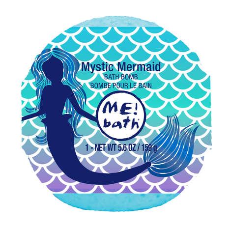 Mermaid-Themed Bath Bombs