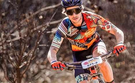 Geometrically Ornate Cycling Gear