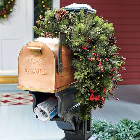 Festive Mailbox Adornments