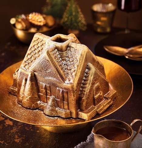 Edible Cottage-Shaped Desserts