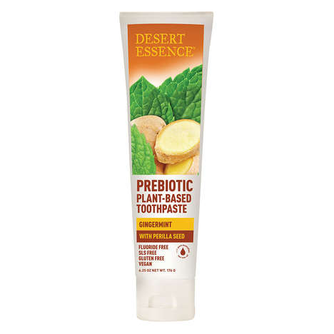 Prebiotic Plant-Powered Toothpastes