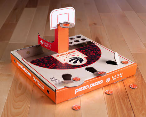 Basketball-Inspired Pizza Boxes