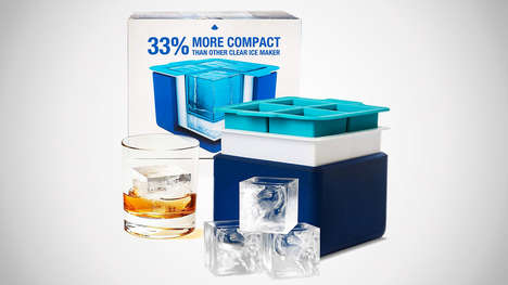 Crystal-Like Cocktail Ice Makers