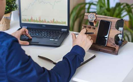 Carved Desktop Essential Organizers