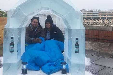 Lickable Beer Igloos