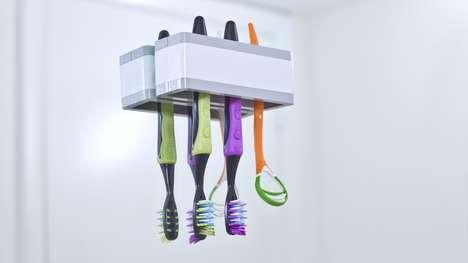 Upside-Down Toothbrush Holders