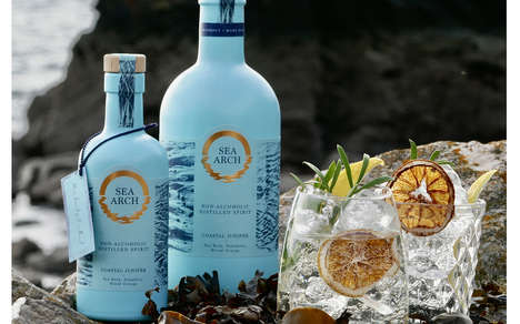 Seaside-Inspired Gin Packaging