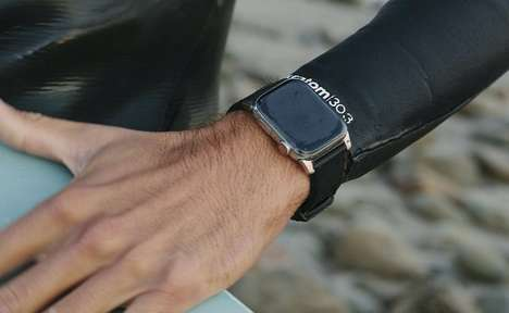 Hydrophobic Leather Smartwatch Straps