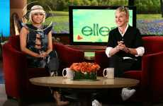 Orbiting Headgear - Lady Gaga Wears Galaxy Hat on Ellen