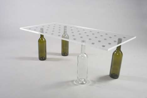 DIY Wine Tables - Revol-Design Lets You Transform Used Bottles into a Stylish Table