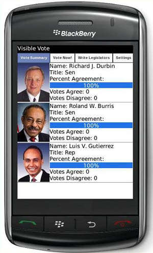 Visible Vote Lets You Follow & Respond to Your Representative