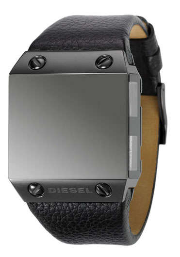 Faceless Watches - Diesel Black Label Timepiece Displays 4 Time Zones