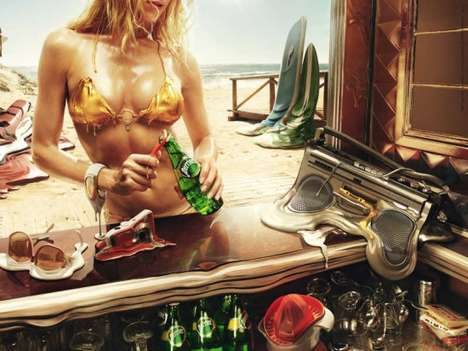 Urban Meltvertising - Stunningly Hot French Ad Shows Cooling Power of Perrier