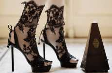 Lace Stilettos - Applique Footwear from Vincent Rey