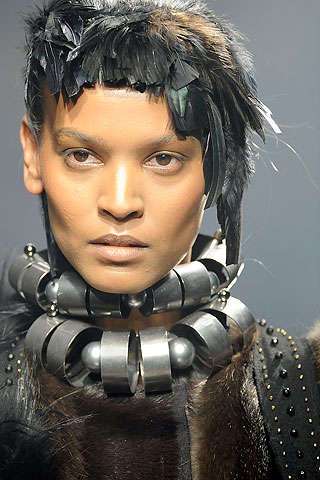 Feather Faces - Fabulous Avian Hairpieces From the Lanvin Fall Collection