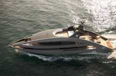 Italian Luxe Yachts - Sail Into the Sunset on the Cassina Furnished 'Ocean Emerald'