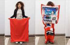 Vending Machine Skirts - Aya Tsukioka's Sneaky Apparel is An Instant Disguise (UPDATE)