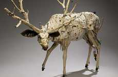 Eco Taxidermy - Geoffrey Gorman's Faux Scrap Animals Are PETA Friendly