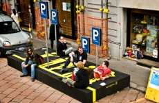 Parking Spots for People - Springtime's 'Person Parking' Gives Street Space to Pedestrians