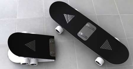 Collapsible Transportation - Jin-Seok Hwang Creates the Folding Skateboard Concept