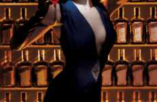 Burlesque Booze Ads - Dita Von Teese is Classy Brand Ambassador for Cointreau