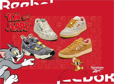 Nostalgic Cartoon-Themed Sneakers
