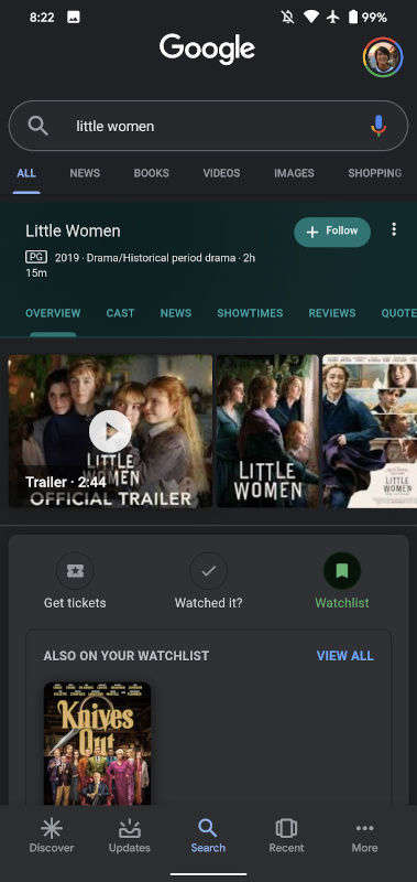 Entertainment-Focused Search Engine Features