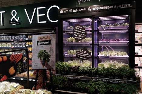 In-Store Vertical Farm Displays