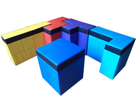 Puzzle-Like Storage Benches