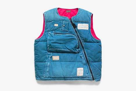 Sustainable Denim Flight Vests