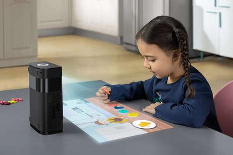 Assistive Touchscreen Projectors