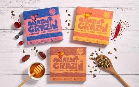 Savory Cheese-Based Snack Bars